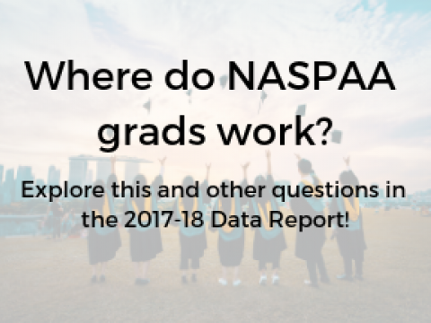 Where do NASPAA Grads work? Explore this and other questions in the 2017-18 Data Report!