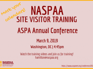 ASPA Site Visitor Training 2019
