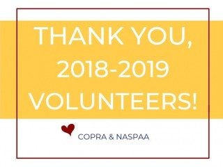 Thank You, 2018-19 Volunteers!
