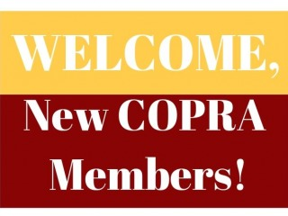 Welcome, New COPRA Members!