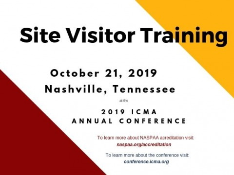 Site Visitor Training at ICMA 2019