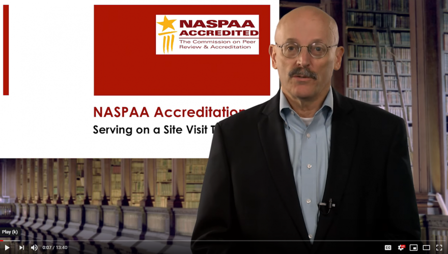 NASPAA Site Visitor Training Videos