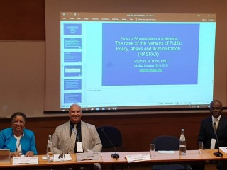 NASPAA President, Palmira Rios, presented at the 2019 IASIA Conference in Lisbon, Portugal